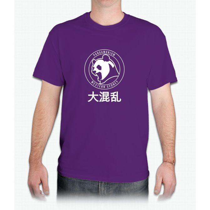 PANDAMONIUM EMBLEM white - Mens T-Shirt