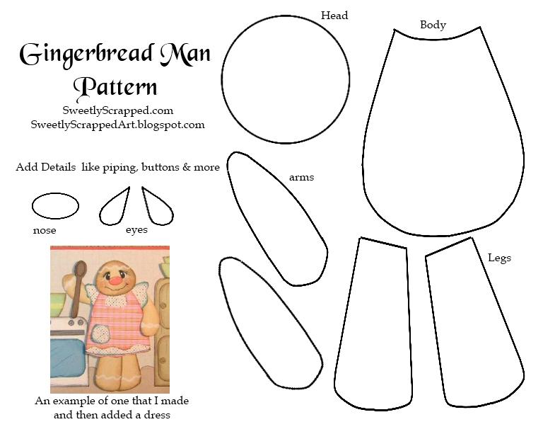Gingerbread Man Paper Piecing Pattern Paper piecing