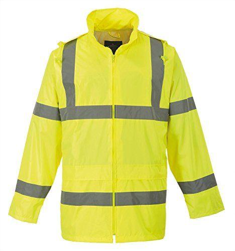 Portwest Waterproof Rain Jacket Lightweight Certified To En471 Class 3 2 And En343 Class 3 1 Des Lightweight Rain Jacket Rain Jacket Waterproof Rain Jacket
