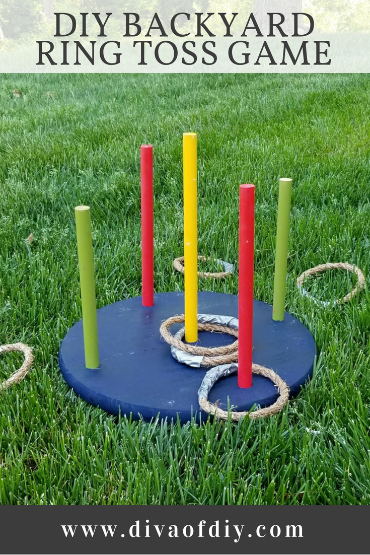 Looking for an easy outdoor game to play this summer? You will love this DIY Ring Toss Game. It's easy to make and fun for the entire family!  This is another great game to add to your outdoor game collection.