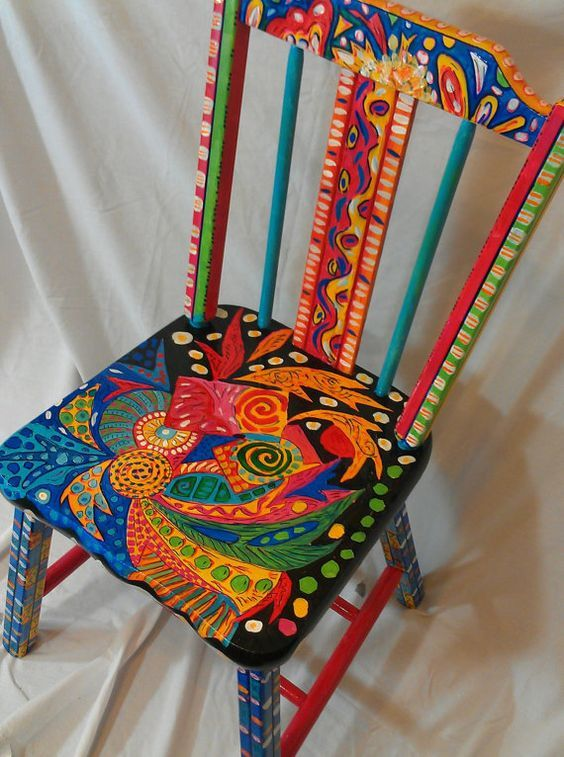 Hand Painted Abstract OOAK Functional Art By TheImpossibleChild