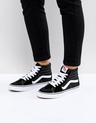 Vans Sk8-Hi Black And White Sneakers | Basket montante noir ...