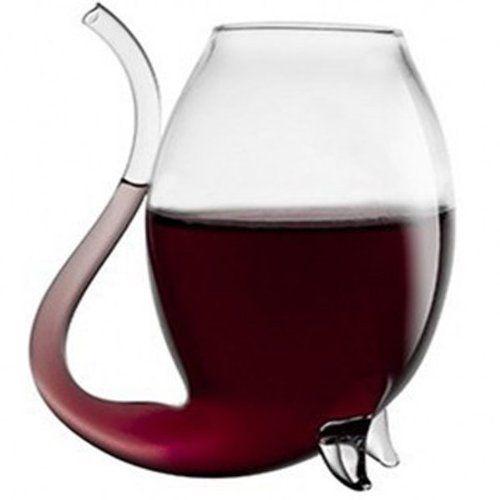 BestOfferBuy Novelty Vampire Devil Wine Glass Cup With Drinking Tube Straw