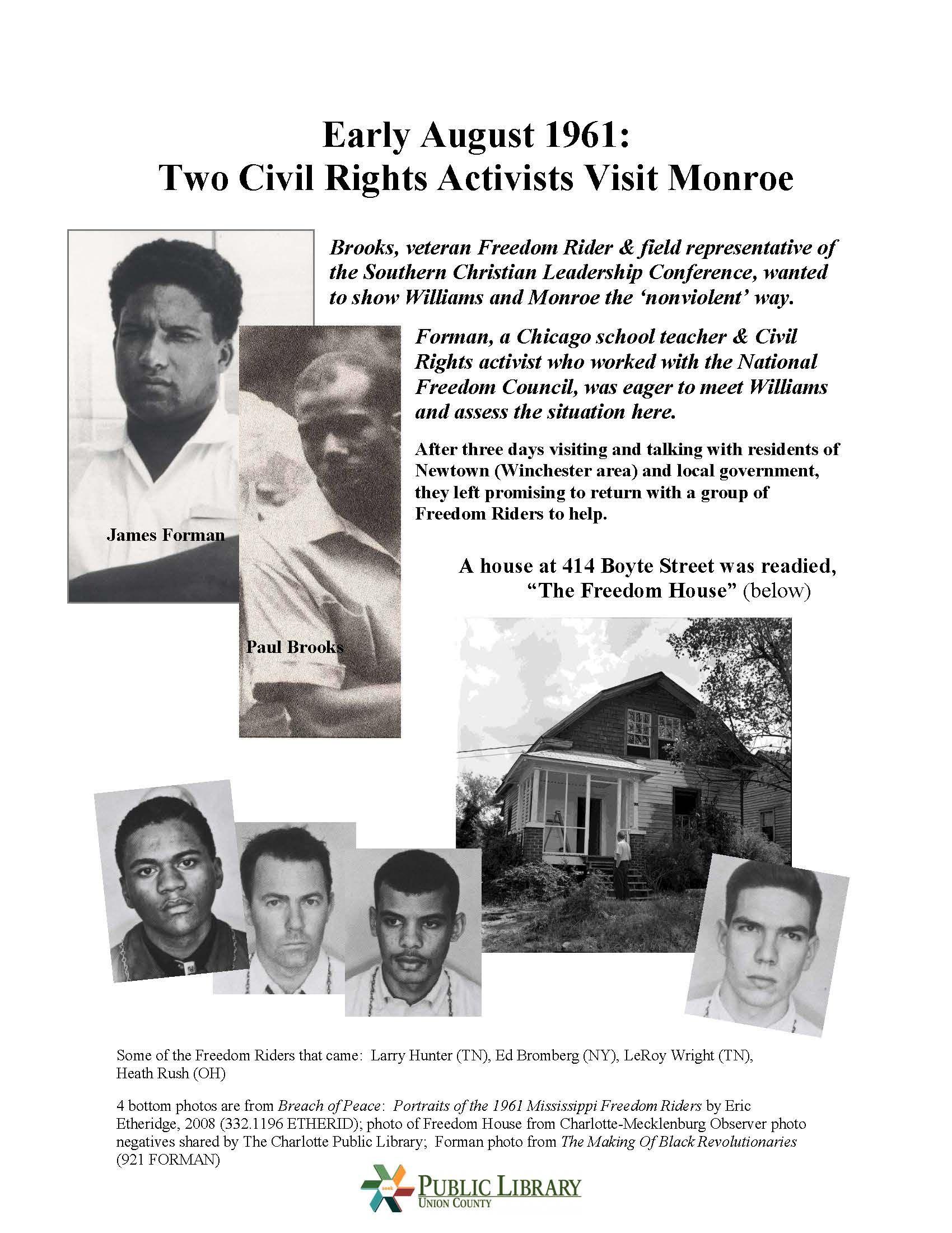 Freedomridersmonroenc Poster 5 Of 16 Created For