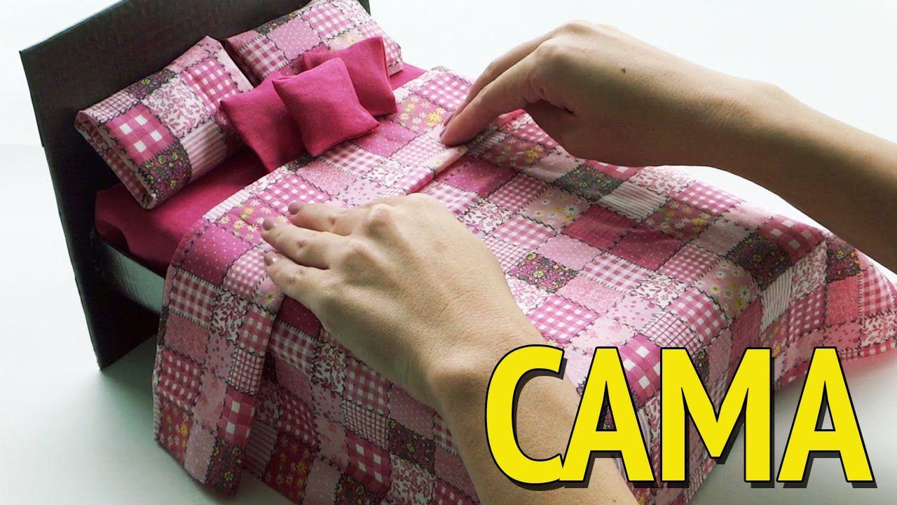 Como Fazer Uma Cama Para Barbie E Outras Bonecas Com Caixa De Sapato