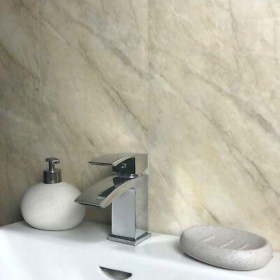 pergamon beige marble bathroom wall panels waterproof