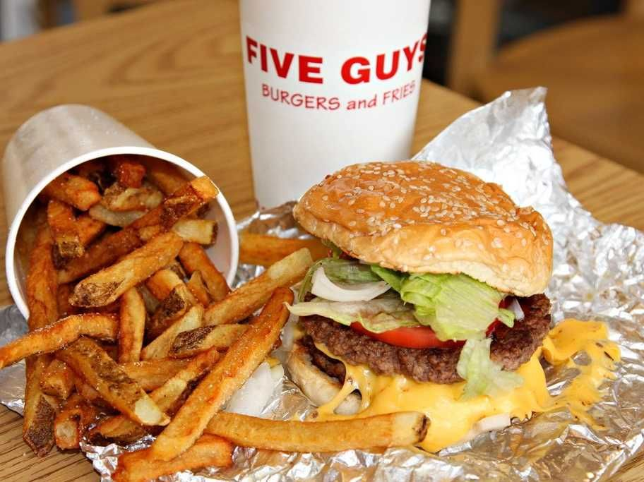 food! five guys best burgers and fries
