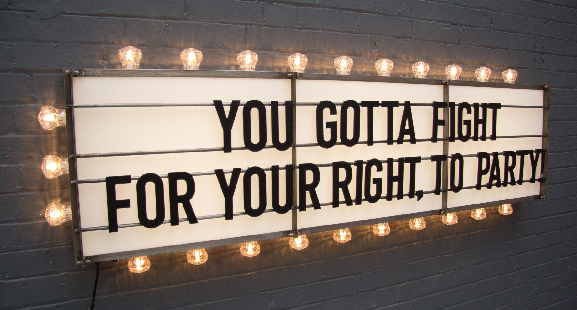 Retro Style Cinema Letters Board Customisable Message Wooden Sign Wedding Party