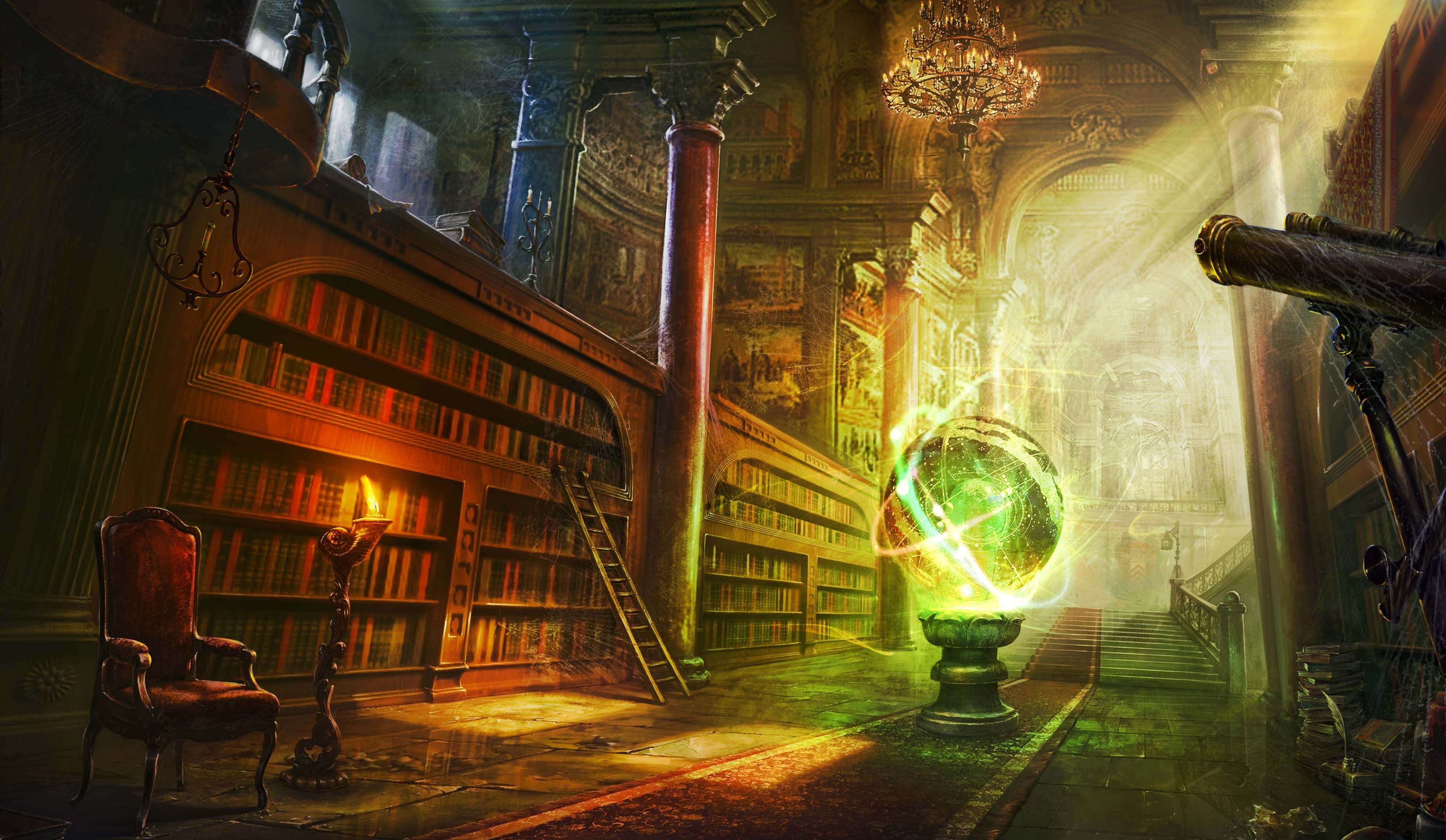 Fantasy Library Background - Google Great