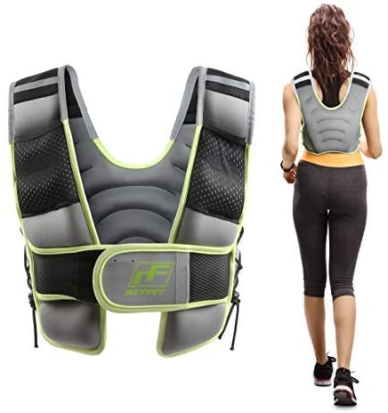 RitFit Weighted Vest 8 10 12 15 20 Lbs for Men & Women with Adjustable Straps and Reflective Strips, Body Weight Vest for Strength Training and Muscle Building, Neoprene Fabric