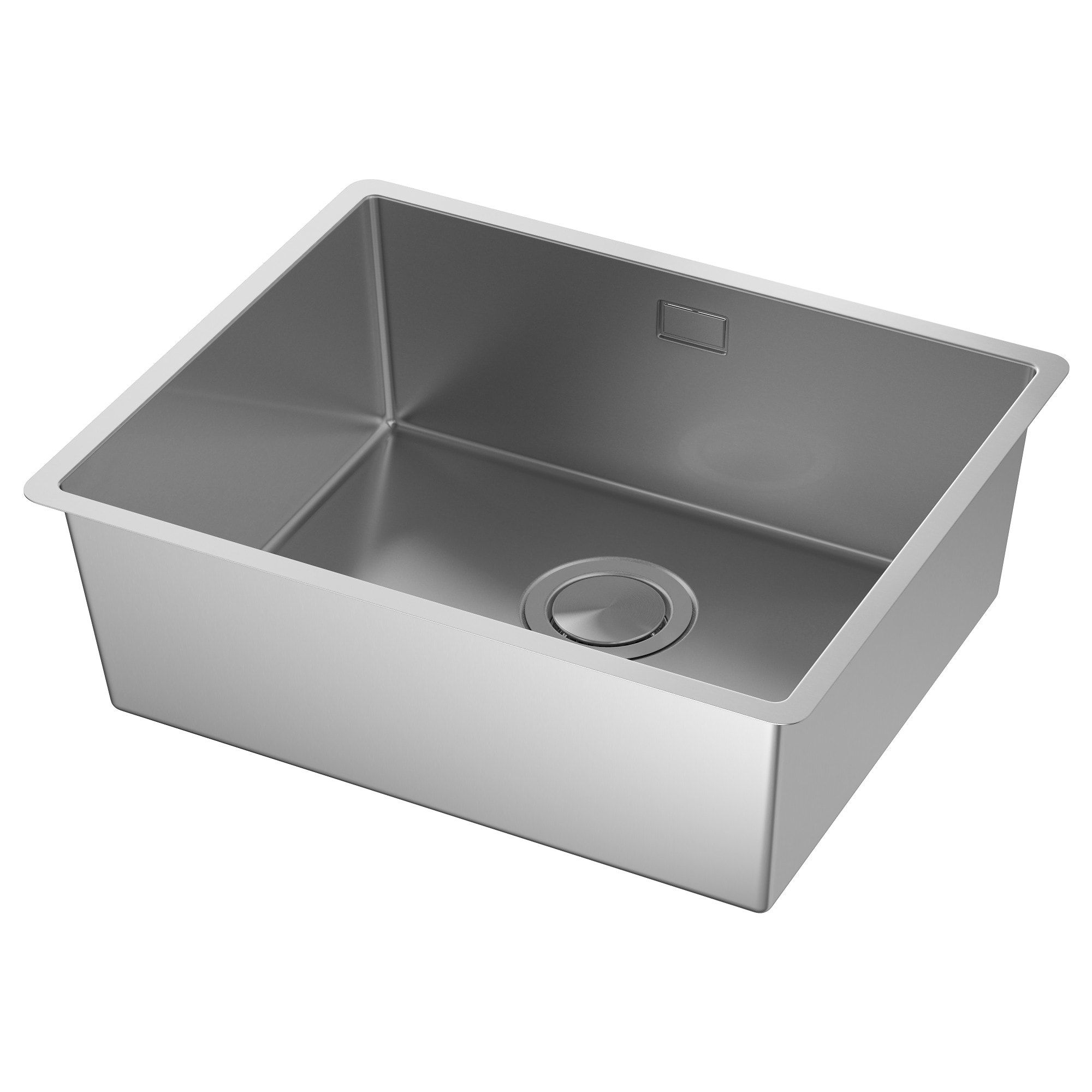Norrsjon Evier Integre 1 Bac Acier Inoxydable 54x44 Cm Ikea Waschbecken Einbauspule Metod Unterschrank