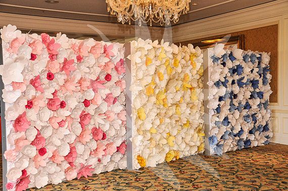 Extra large Paper Flower Backdrop white Custom Order