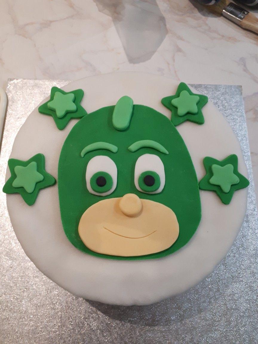 pj masks gecko cake   pj masks cake