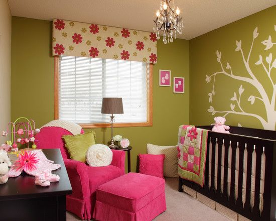 Pink And Green Bedroom Designs Amusing Wonderful Baby Girl Bedroom Ideas With Green Wall Paint Color Also Decorating Design