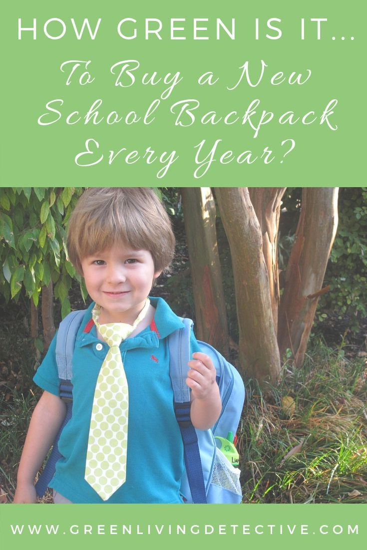 How Green Is It... To Replace a School Backpack Despite today's students decreasingly carrying piles of textbooks in their backpacks, school backpacks are still a $2.7 billion industry, and a staple of a student's life. But is it sustainable (financially and environmentally) to buy a new school backpack every year? Follow the link to find out! >>>>>
