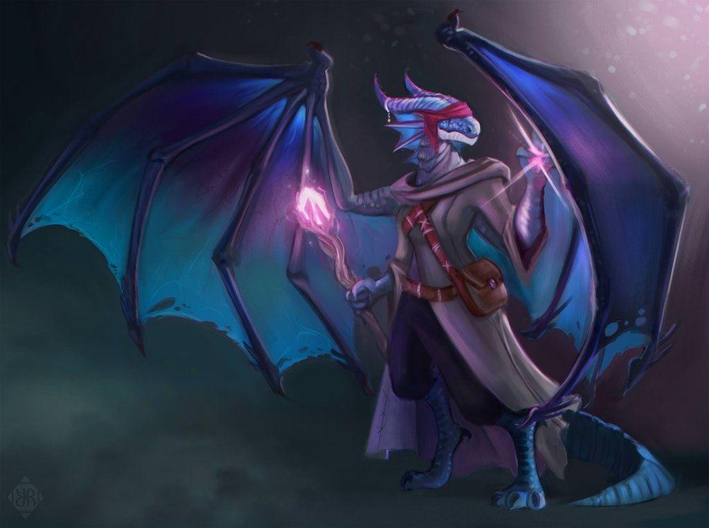 Dragonborn Sorcerer characterdrawing