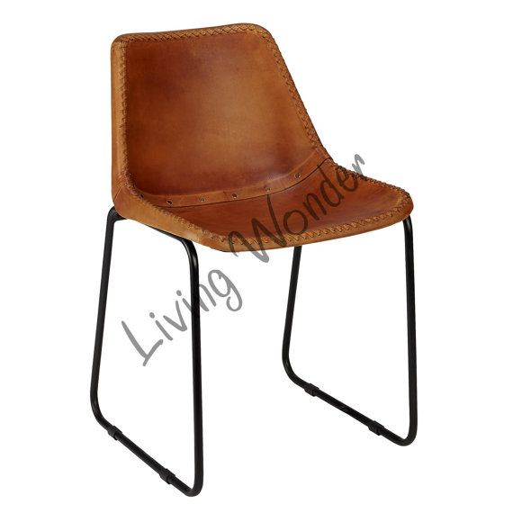 Vintage Leather Dining Chairs vintage look leather dining chair leather officelivingwonder
