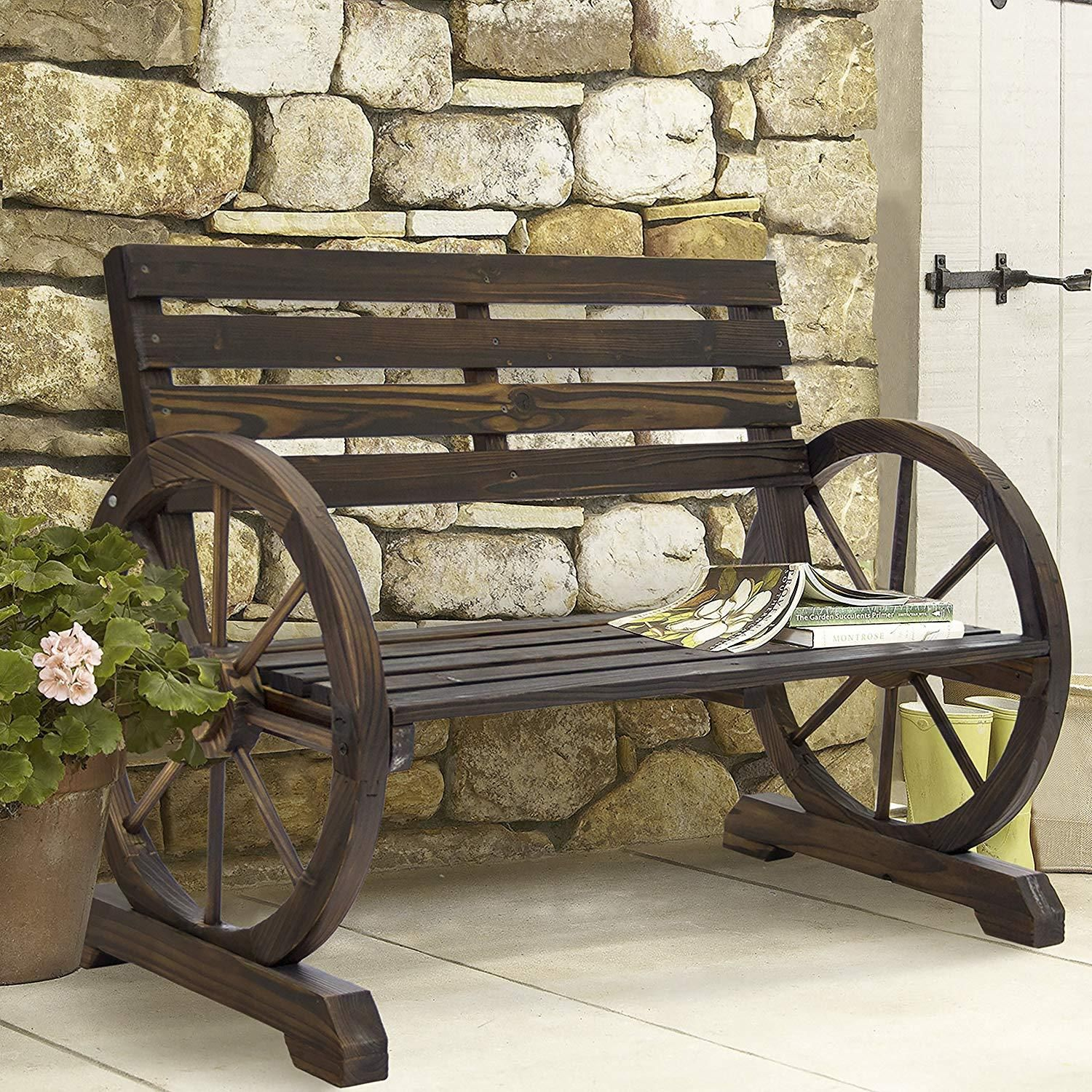 Pleasing Winston Bay British Colonial Rustic Wood War Bench Outdoor Caraccident5 Cool Chair Designs And Ideas Caraccident5Info
