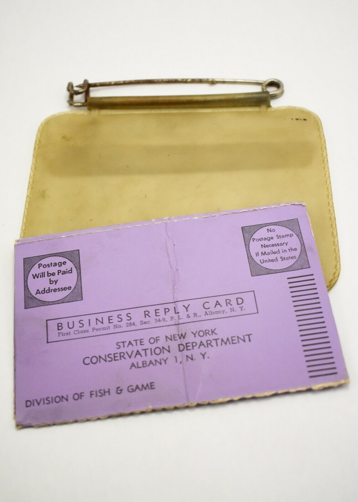 2 Nys 1959 Hunting Fishing Trapping License Big Game Report Tag W Case Hunting Big Game Fish