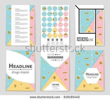 Abstract vector layout background set For art template design - blank sign in sheet