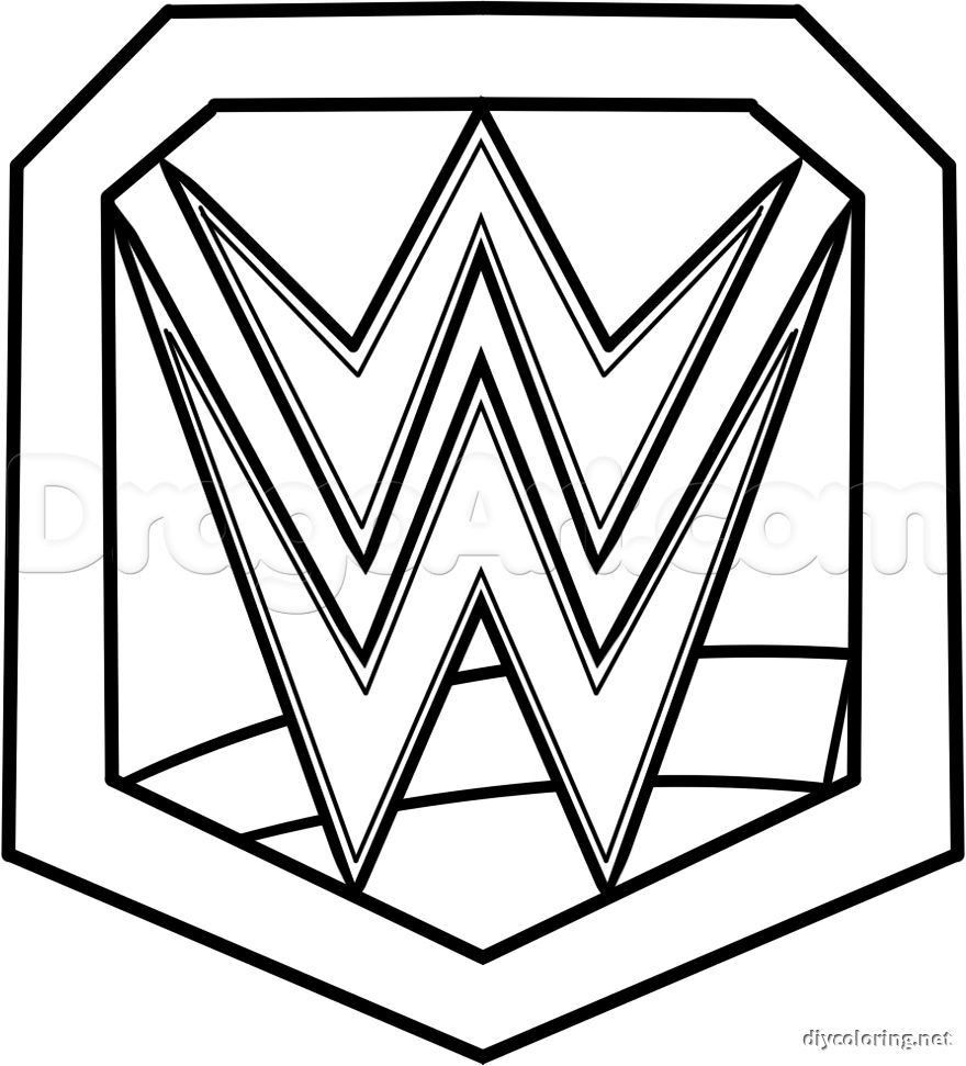 Coloring Pages Of Wwe Wrestlers Wwe Coloring Pages Wwe Party Wwe Birthday Party