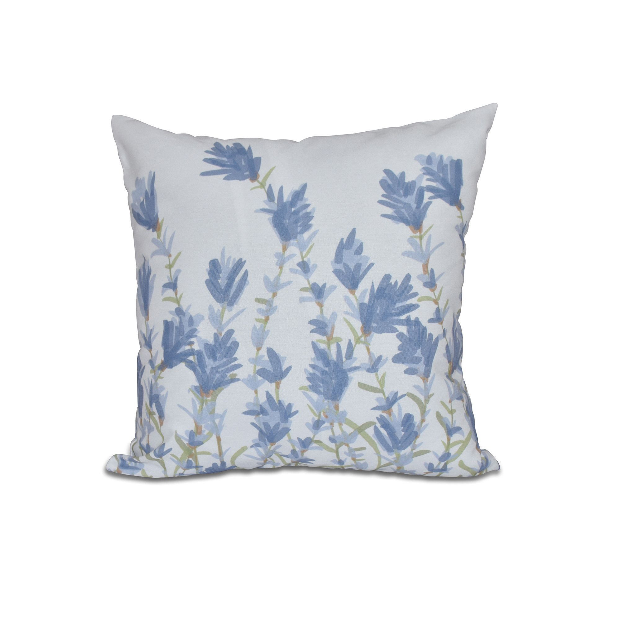 Orchard Lane Lavender Floral Throw Pillow