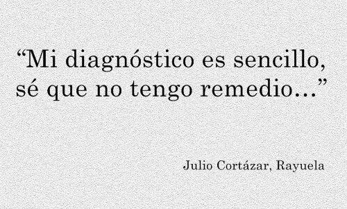 Mi diagnóstico es sencillo