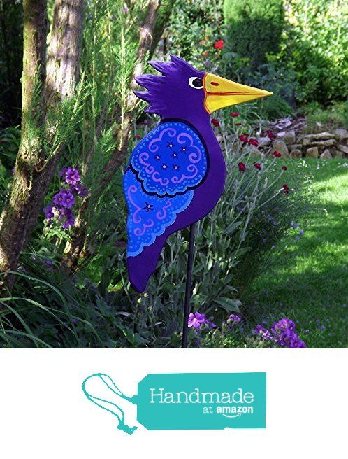Pflanzenstecker Holz lila, Gartenkunst, Gartenskulptur - gartendekoration aus holz