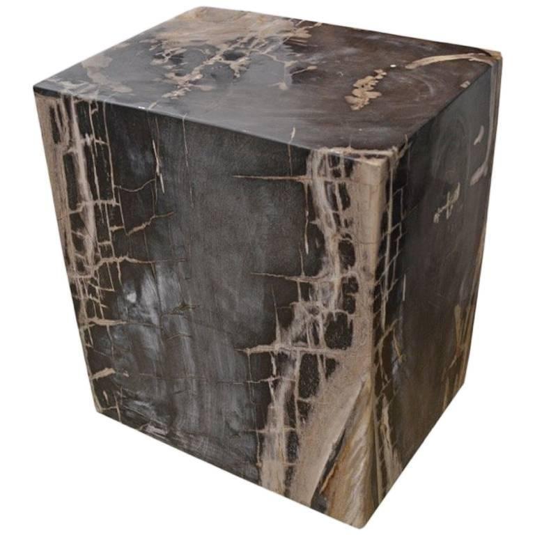 faux petrified wood coffee table