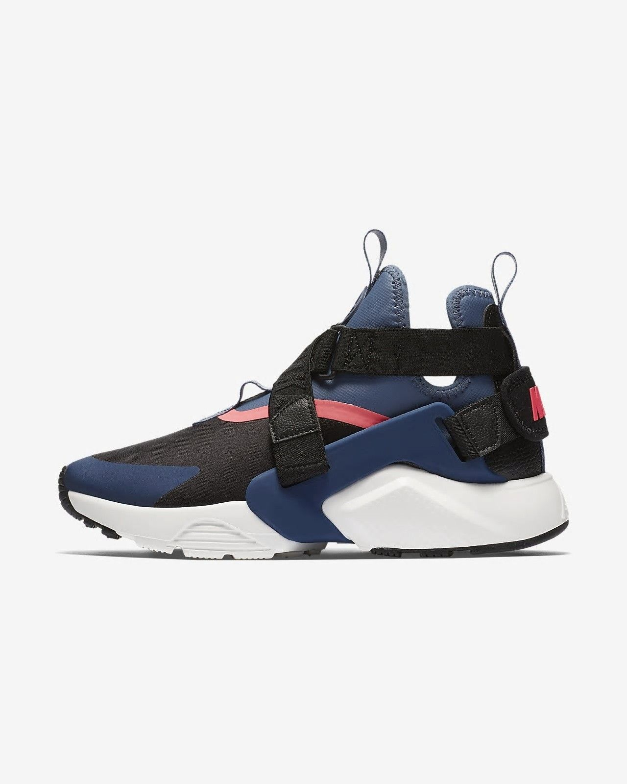 super popular 4975a 8d877 Nike Air Huarache City Black Diffused Blue Racer Pink Navy Women s  Lifestyle Shoes AH6787-002