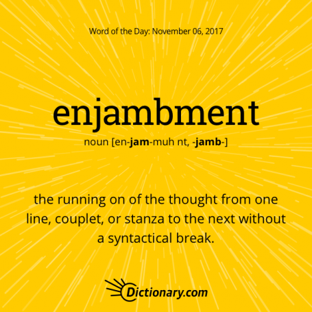 Image result for enjambment