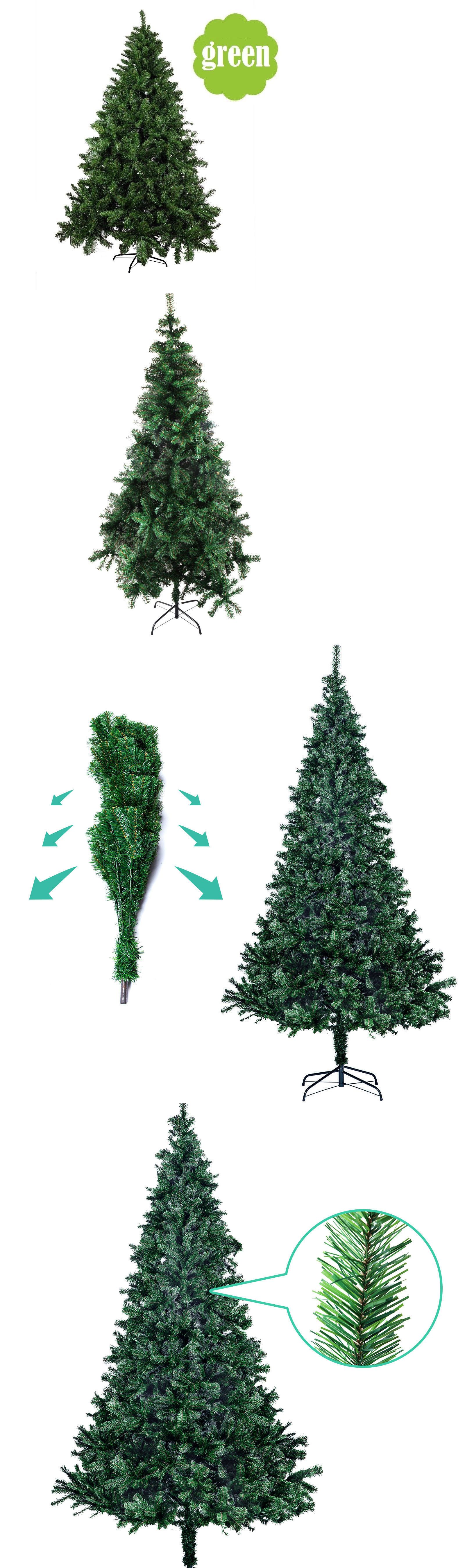 5 6 7 8ft Green Pvc Artificial Christmas Holiday Tree W Stand Small Big Holiday Tree Christmas Holidays Artificial Christmas Tree