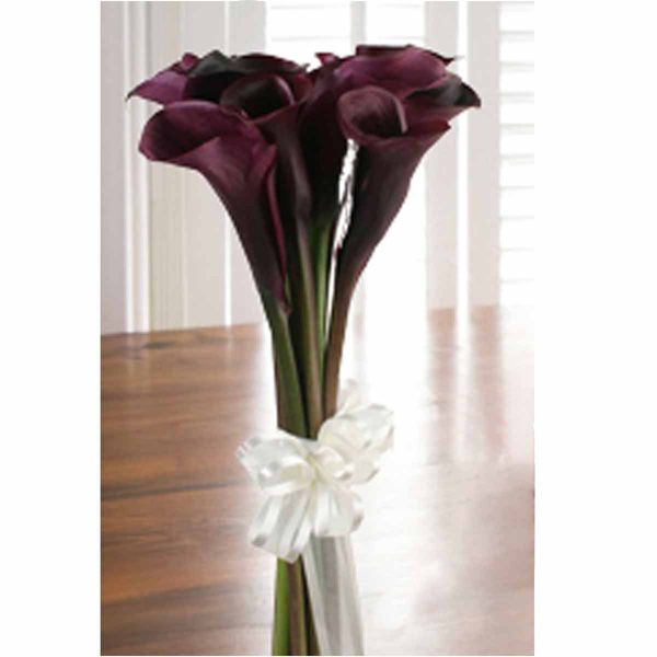 Black Calla Lilies Bouquet Beautiful Black Calla Lily Purple Calla Lilies Lily Bouquet