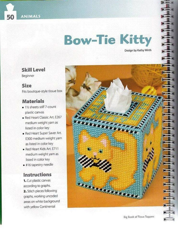 Bow Tie Kitty 1 2 Plastic Canvas Patterns Plastic Canvas Tissue Boxes Plastic Canvas Ornaments