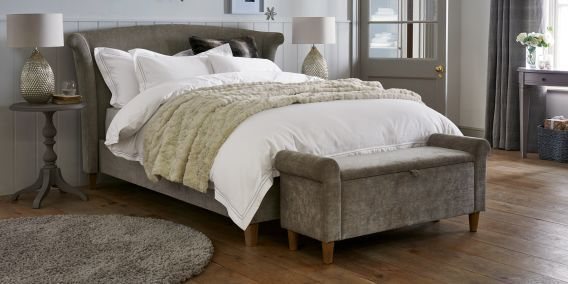 Best Buy Lily Double Bed With Lift Up Storage Classic Velvet 400 x 300