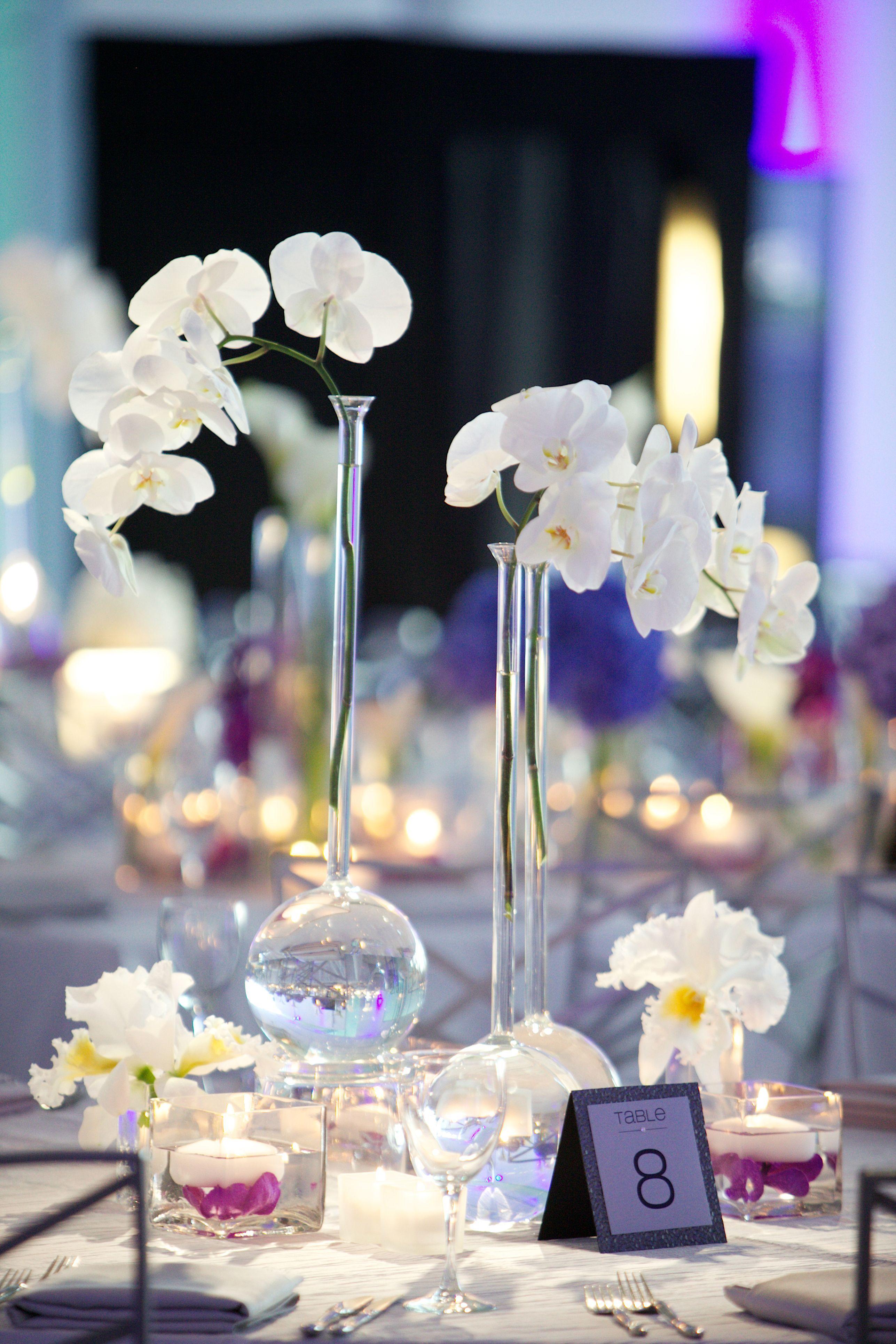 modern purple blue white wedding at contemporary chicago venue rh pinterest com