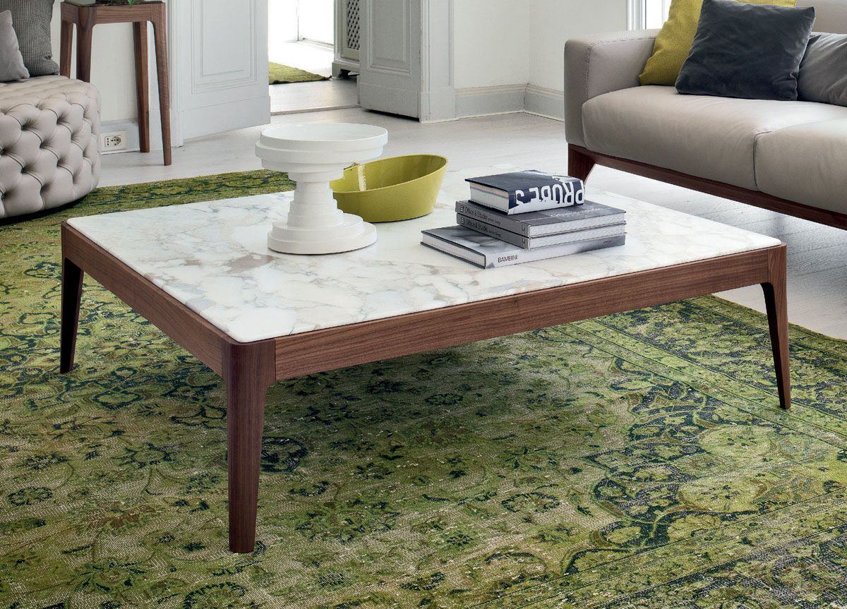 Small Modern Square Coffee Table Marble Top Coffee Table Modern