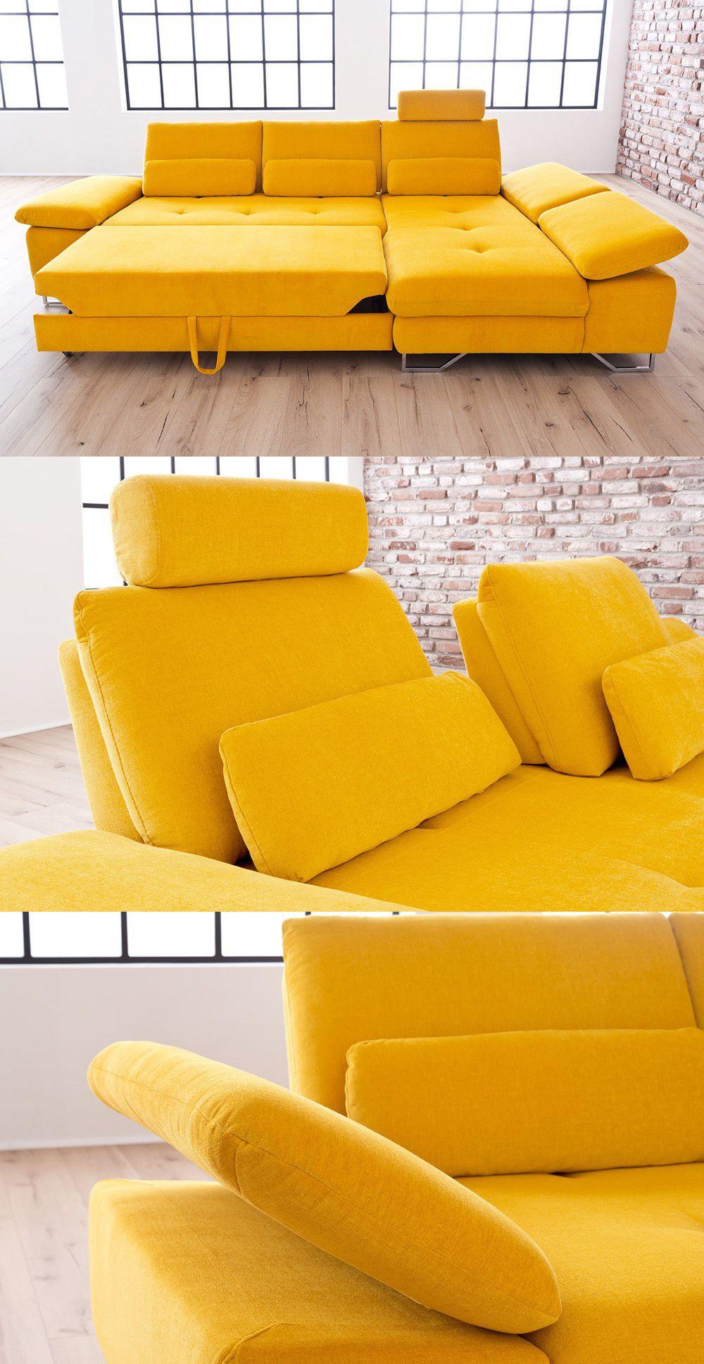 gelbe eckcouch brasil | sorge für frischen wind in deinem, Wohnzimmer