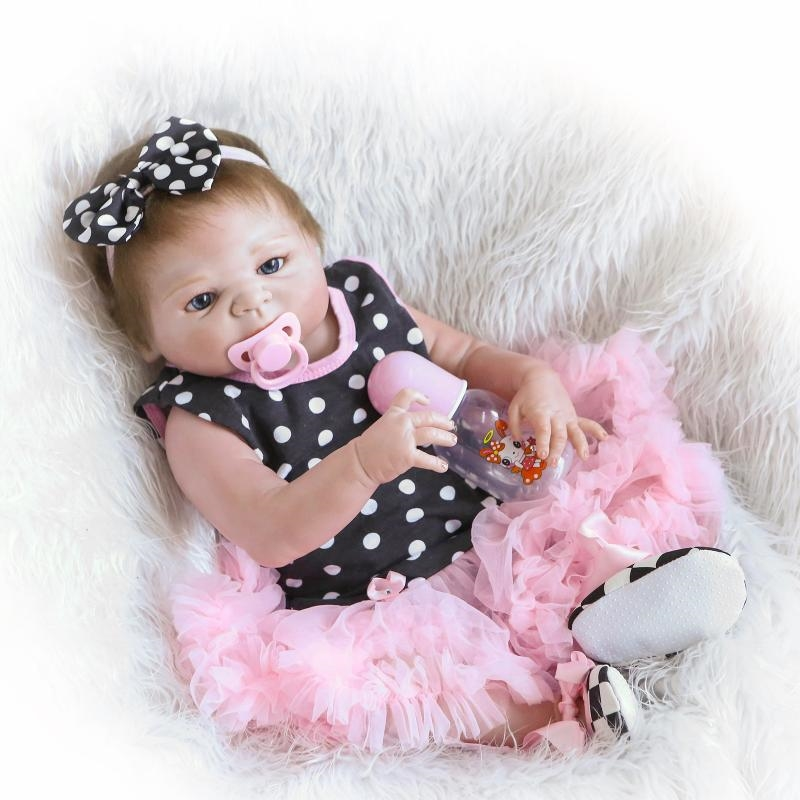 99.65$  Watch here - http://alivao.worldwells.pw/go.php?t=32710896605 - Full Body Silicone Reborn Baby Doll Toys Lifelike NPKCOLLECTION Victoria Baby-Reborn Girls Baby Doll Child Brinquedos Bathe Toy