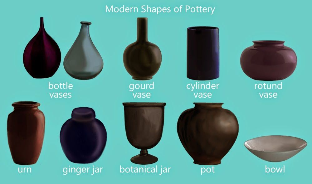 Pottery And Vase Shapes Botanicals In 2018 Pinterest Vase