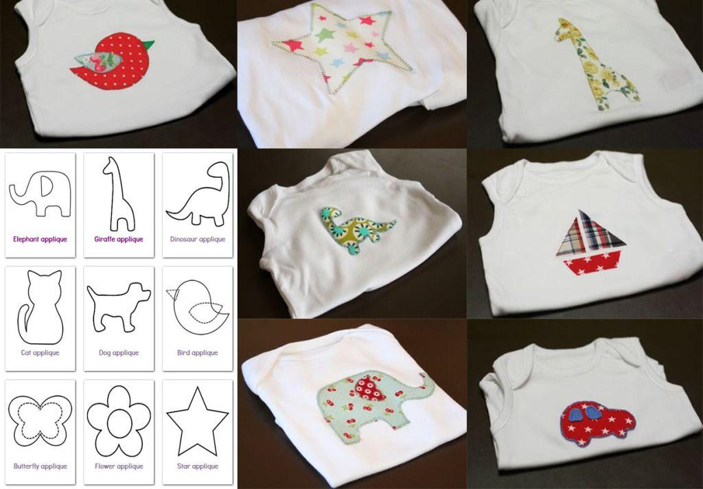 Applique modelli gratis da scaricare e tutorial diy baby