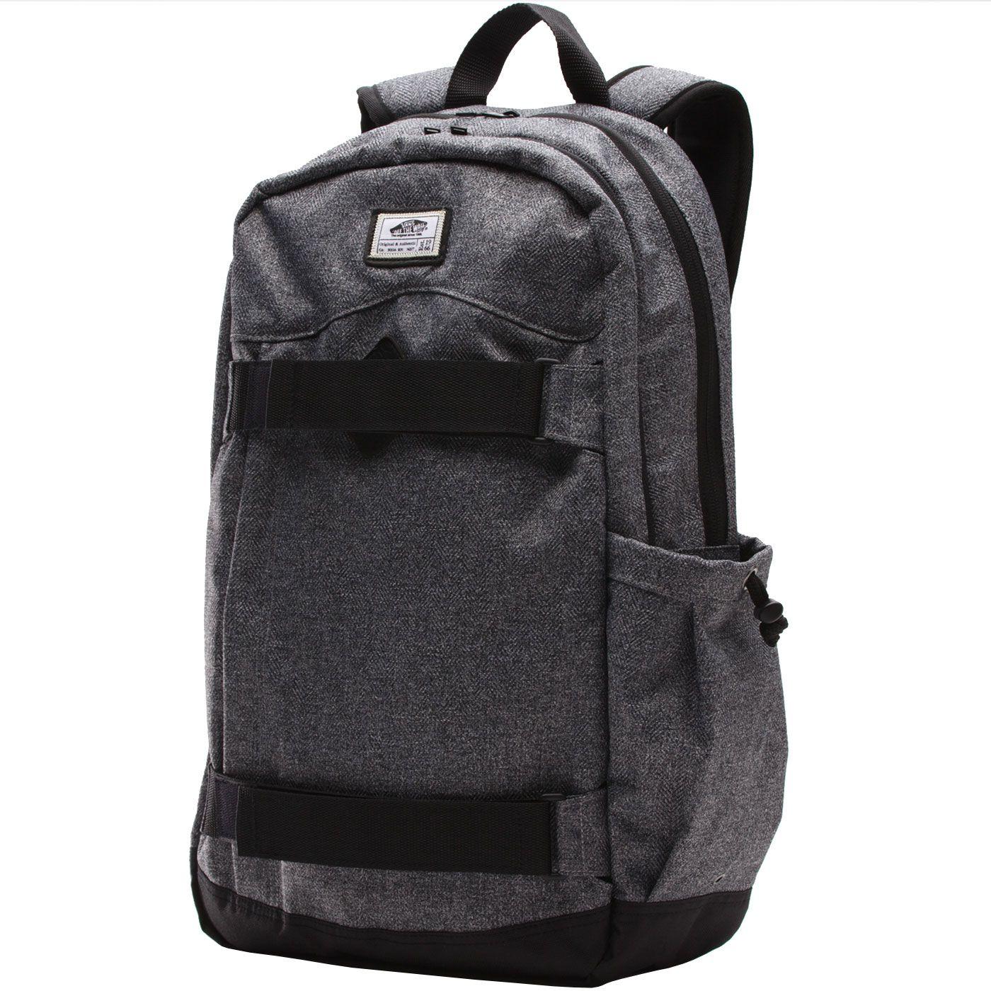 d732789f8e84fa Vans Authentic II Skatepack Backpack - Cement Herringbone