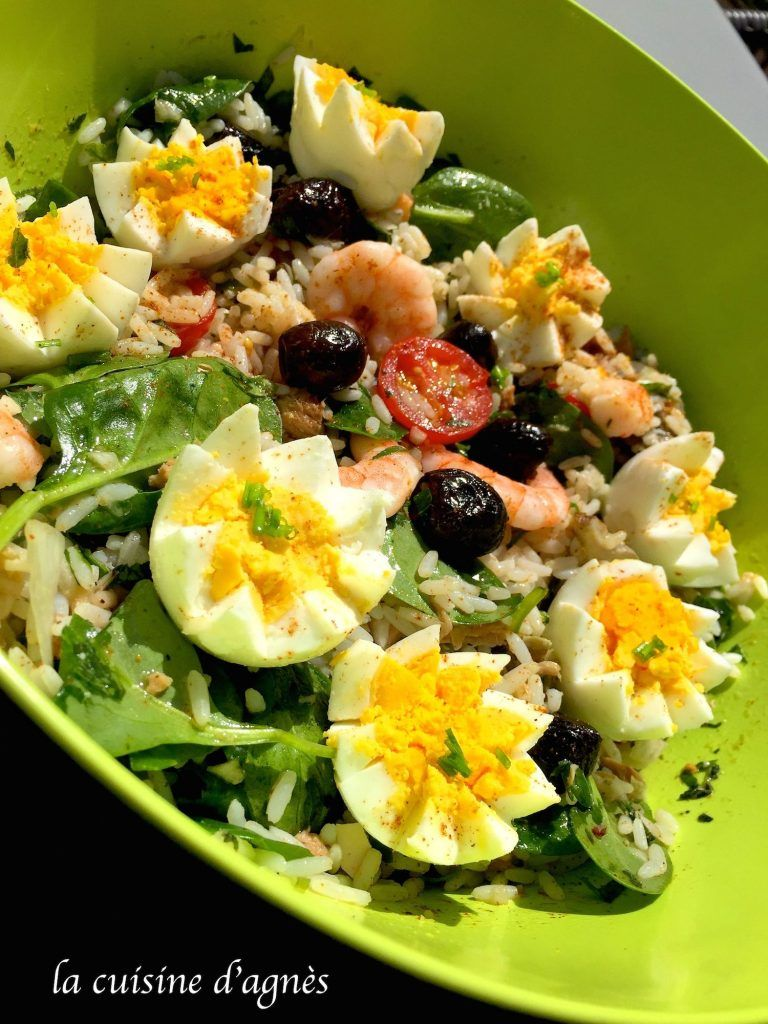 salade de riz au thon   Salade de riz, Salade et Salade ...