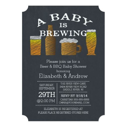 couple baby brewing barbecue baby shower card | paper, couple and, Baby shower invitations