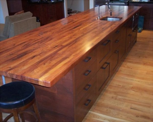 Large Texas Mesquite Butcher Block Island Top Gives Plenty Of Workspace And Room Enough For Lots Of Fo Wood Countertops Butcher Block Countertops Mesquite Wood