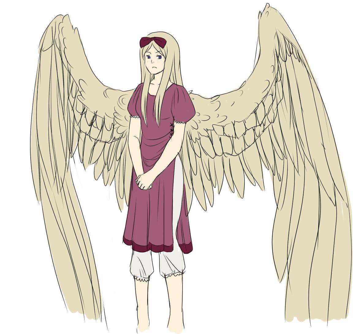 Belarus-Natalia Pale Sand Tinted Wings. Enjoys Cute