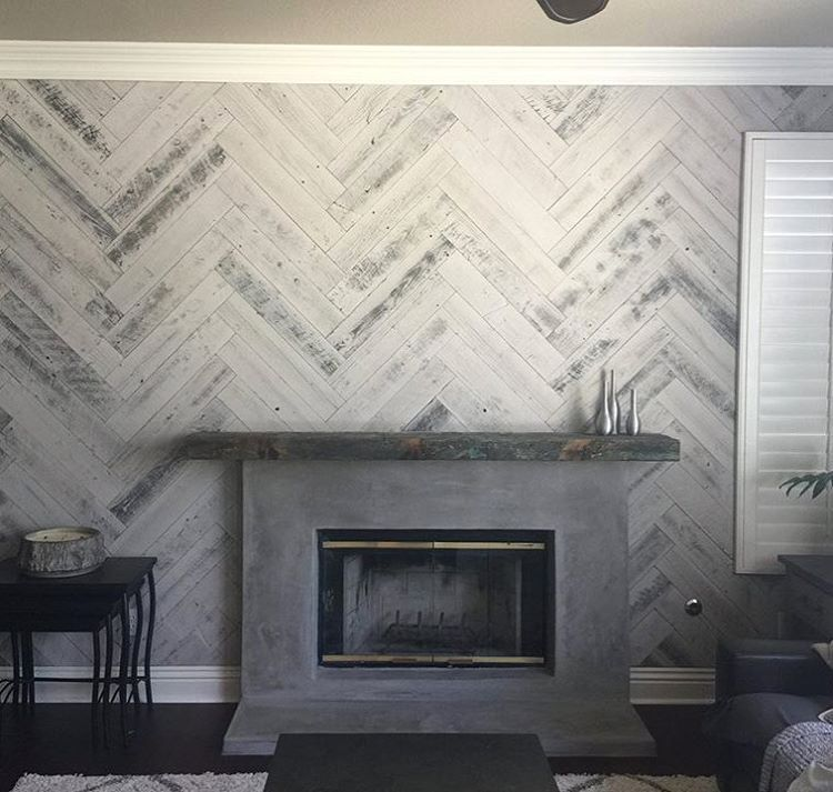 Diy Barnwood Accent Wall Herringbone: Stikwood On Instagram: €�A Herringbone Dream Come True