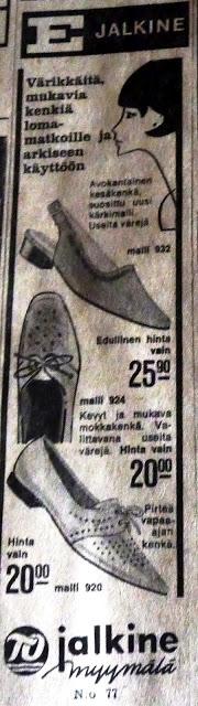 Totally Vintage!: 1960-luvun lehdet olivat myös täynnä mainoksia..