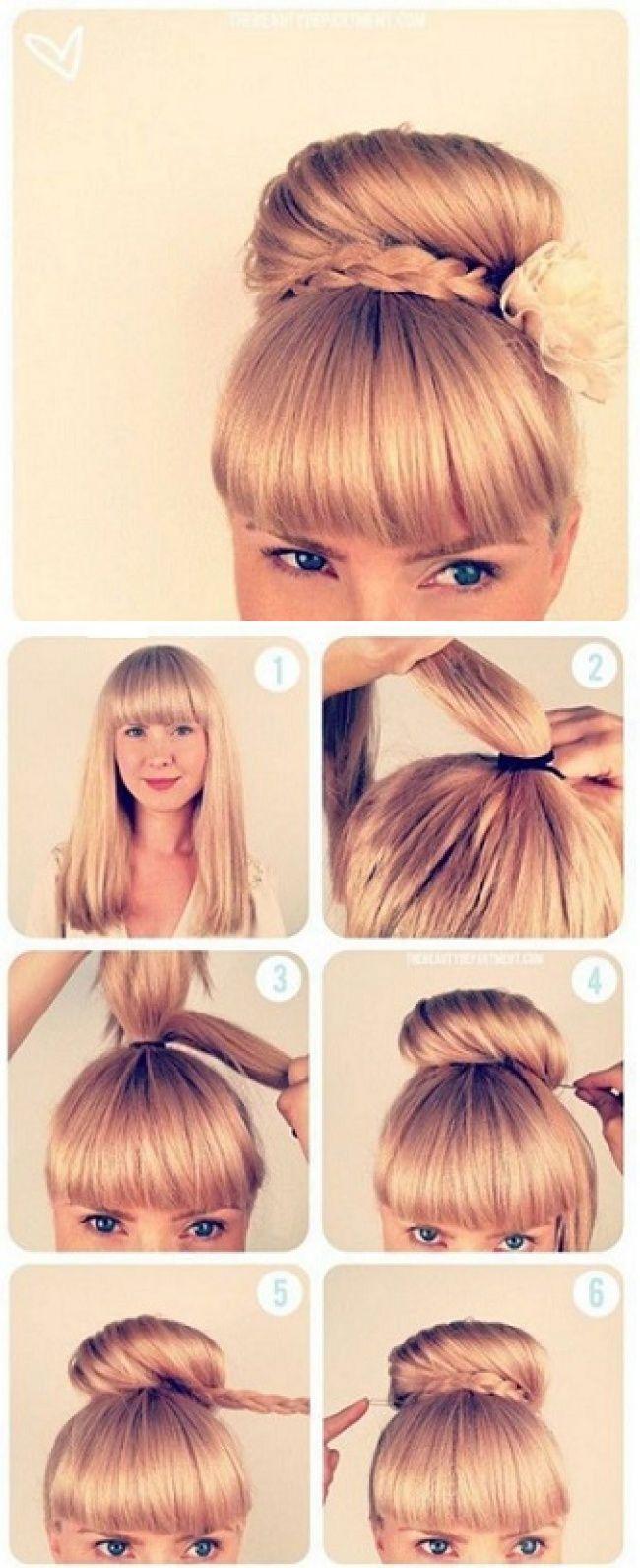 idées de coiffures simples avec des tresses coiffure pinterest