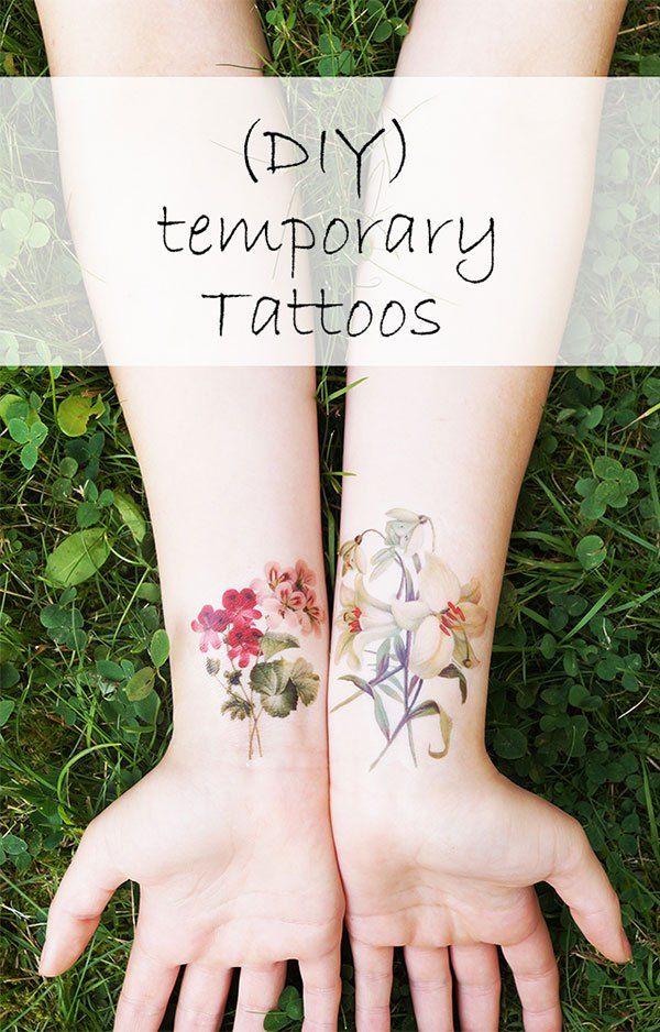 Henna Tattoo Einfach Klein: Diy-temporäre-tattoos-klein-englisch